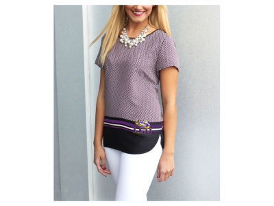 LSU Tigers Gameday Couture NCAA Women's Herringbone Chiffon Top