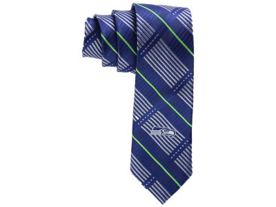 Seattle Seahawks Necktie Skinny Plaid