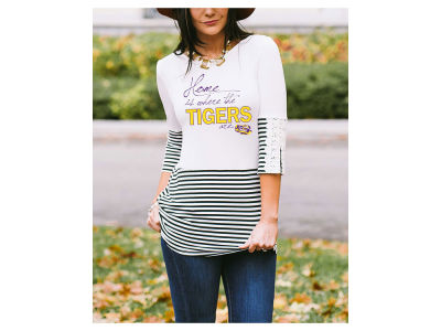 LSU Tigers Gameday Couture NCAA Women's Button Back Top