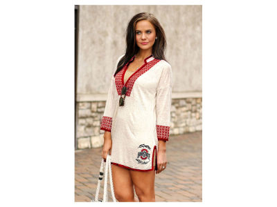 Ohio State Buckeyes Gameday Couture NCAA Womens Embroidered Swim Tunic