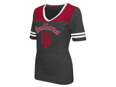 Indiana Hoosiers Colosseum NCAA Women's Twist V-Neck T-Shirt