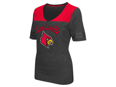 Louisville Cardinals Colosseum NCAA Women's Twist V-Neck T-Shirt