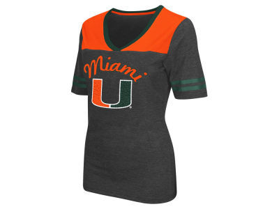 Miami Hurricanes Colosseum NCAA Women's Twist V-Neck T-Shirt
