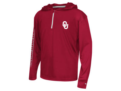 Oklahoma Sooners Colosseum NCAA Youth Sleet Quarter Zip Hoodie