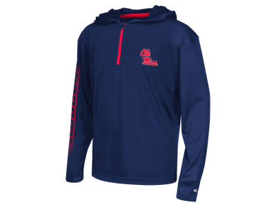 Ole Miss Rebels Colosseum NCAA Youth Sleet Quarter Zip Hoodie