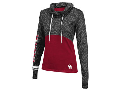 Oklahoma Sooners Colosseum NCAA Women''s Scaled Cowl Neck Pullover