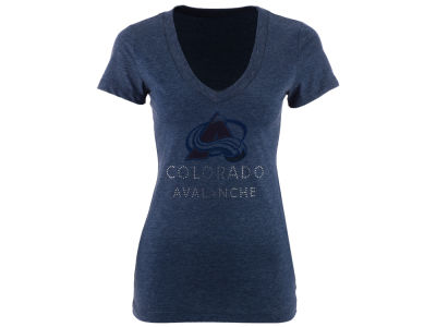 Colorado Avalanche NHL Women's Team Text Rhinestone T-Shirt