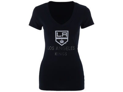 Los Angeles Kings NHL Women's Team Text Rhinestone T-Shirt