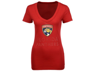 Florida Panthers NHL Women's Team Text Rhinestone T-Shirt