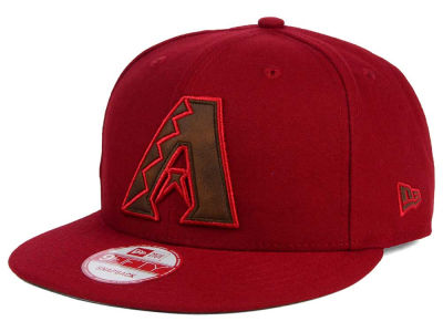 Arizona Diamondbacks New Era MLB Smoove Leather Logo 9FIFTY Snapback Cap