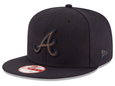 Atlanta Braves New Era MLB Smoove Leather Logo 9FIFTY Snapback Cap