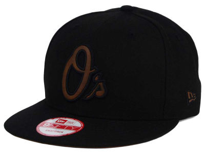 Baltimore Orioles New Era MLB Smoove Leather Logo 9FIFTY Snapback Cap