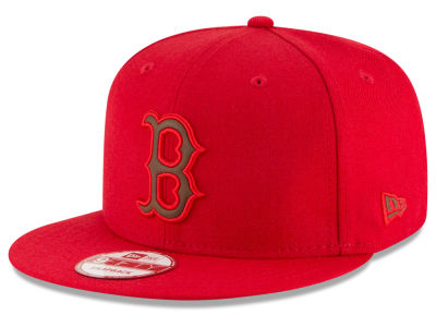 Boston Red Sox New Era MLB Smoove Leather Logo 9FIFTY Snapback Cap