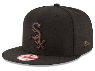 Chicago White Sox New Era MLB Smoove Leather Logo 9FIFTY Snapback Cap