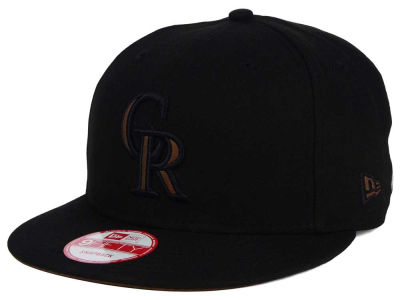 Colorado Rockies New Era MLB Smoove Leather Logo 9FIFTY Snapback Cap