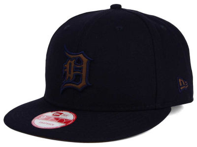 Detroit Tigers New Era MLB Smoove Leather Logo 9FIFTY Snapback Cap