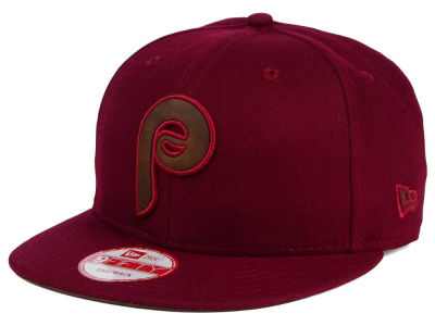 Philadelphia Phillies New Era MLB Smoove Leather Logo 9FIFTY Snapback Cap