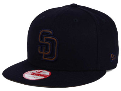 San Diego Padres New Era MLB Smoove Leather Logo 9FIFTY Snapback Cap