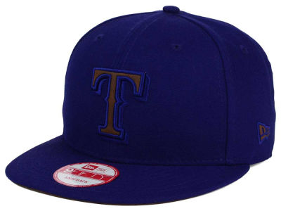 Texas Rangers New Era MLB Smoove Leather Logo 9FIFTY Snapback Cap