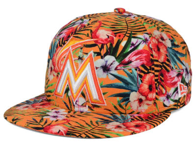 Miami Marlins New Era MLB Troppin Hot 9FIFTY Snapback Cap