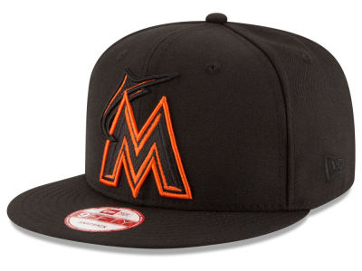 Miami Marlins New Era MLB Black Diamond 9FIFTY Snapback Cap