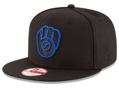 Milwaukee Brewers New Era MLB Black Diamond 9FIFTY Snapback Cap