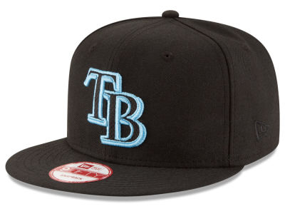 Tampa Bay Rays New Era MLB Black Diamond 9FIFTY Snapback Cap