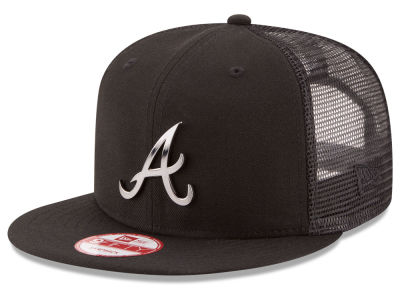 Atlanta Braves New Era MLB Metal Trucker 9FIFTY Snapback Cap