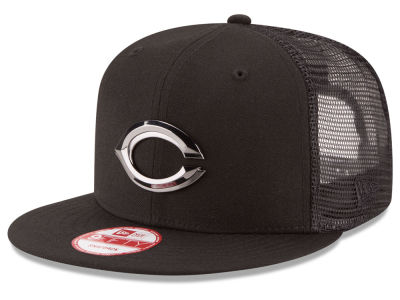 Cincinnati Reds New Era MLB Metal Trucker 9FIFTY Snapback Cap