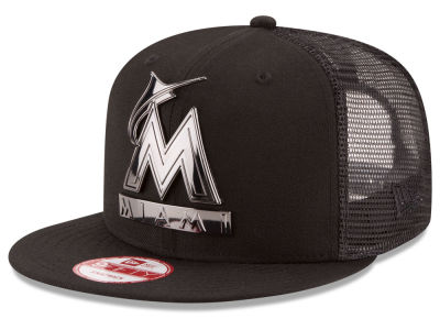 Miami Marlins New Era MLB Metal Trucker 9FIFTY Snapback Cap