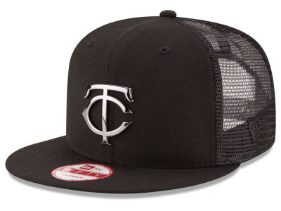 Minnesota Twins New Era MLB Metal Trucker 9FIFTY Snapback Cap