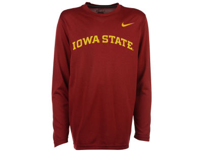 Iowa State Cyclones Nike NCAA Youth Legend Wordmark Long Sleeve T-Shirt