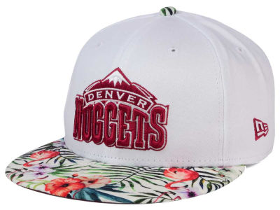 Denver Nuggets New Era NBA HWC White Out Trop 9FIFTY Snapback Cap