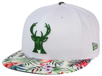Milwaukee Bucks New Era NBA HWC White Out Trop 9FIFTY Snapback Cap