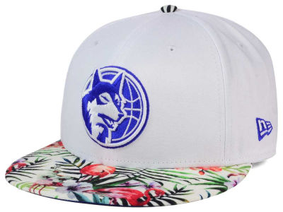 Minnesota Timberwolves New Era NBA HWC White Out Trop 9FIFTY Snapback Cap