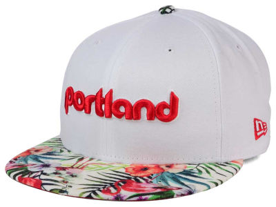 Portland Trail Blazers New Era NBA HWC White Out Trop 9FIFTY Snapback Cap