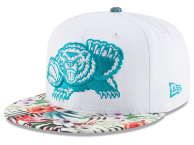 Vancouver Grizzlies New Era NBA HWC White Out Trop 9FIFTY Snapback Cap