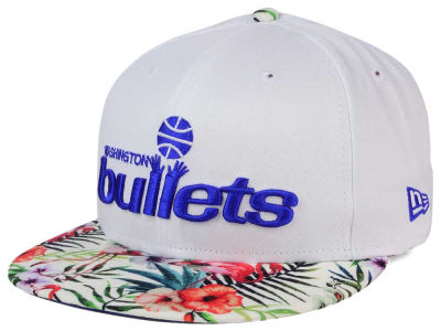 Washington Bullets New Era NBA HWC White Out Trop 9FIFTY Snapback Cap