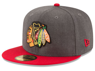 Chicago Blackhawks New Era NHL Team Heather Patch 59FIFTY Cap