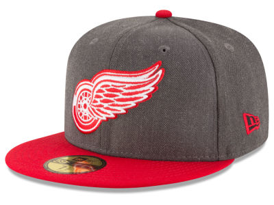 Detroit Red Wings New Era NHL Team Heather Patch 59FIFTY Cap