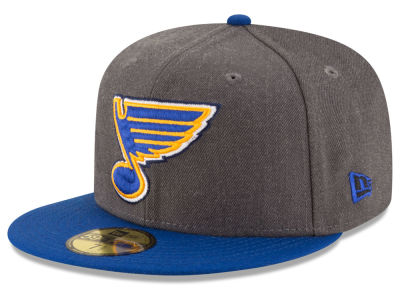 St. Louis Blues New Era NHL Team Heather Patch 59FIFTY Cap