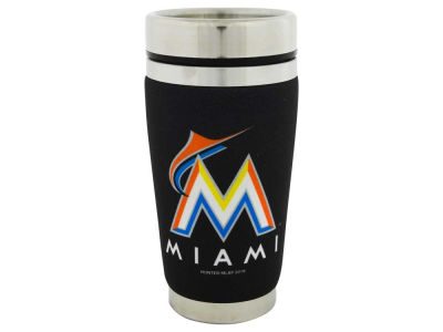 Miami Marlins 16oz Stainless Steel Travel Tumbler