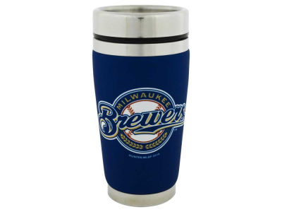 Milwaukee Brewers 16oz Stainless Steel Travel Tumbler