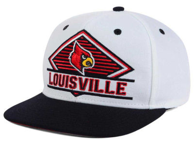 Louisville Cardinals adidas NCAA White Diamond Snapback Cap