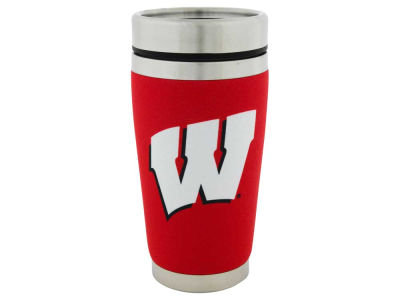 Wisconsin Badgers 16oz Stainless Steel Travel Tumbler