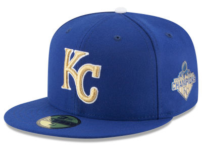 Kansas City Royals New Era MLB 2015 World Series Commemorative Gold AC 59FIFTY Cap