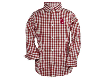 Oklahoma Sooners Garb NCAA Toddler Logan Long Sleeve Button Down Shirt