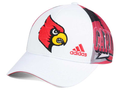 Louisville Cardinals adidas NCAA White Mesh Adjustable Cap