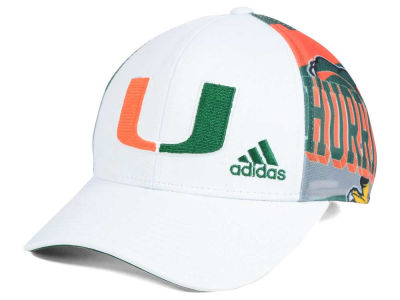 Miami Hurricanes adidas NCAA White Mesh Adjustable Cap