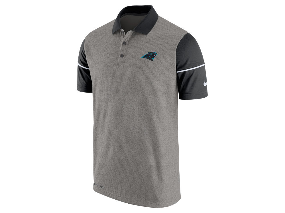 Carolina Panthers Nike NFL Men s Sideline Polo Shirt  601b205f2